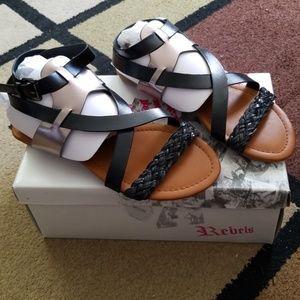 Size 8 gladiator sandals Rebels